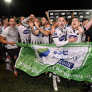 Dundalk celebrate after clinching the club's forth league title in five seasons. Photo by Seb Daly/Sportsfile