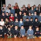 3rd and 4th class Scoil Mhuire Coolcotts in Wexford Art Centre on Monday morning with teachers Cathy Kane, Angela Murphy Scoil Mhuire,Tricia Sparling, Susan Murphy Wexford County Council Arts Department, Elizabeth Whyte Wexford Art Centerm Catherine Bowe Wexford Art Centre and artists OOnagh Latchford Laura Ni Fhlaibhin and Pavlina Kubelkova