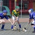 Ground hurling on Wexford Quay on Saturday morning Conor Dobbs_Adam Kavanagh (Clonard) JJ Ellard (St Fintans)