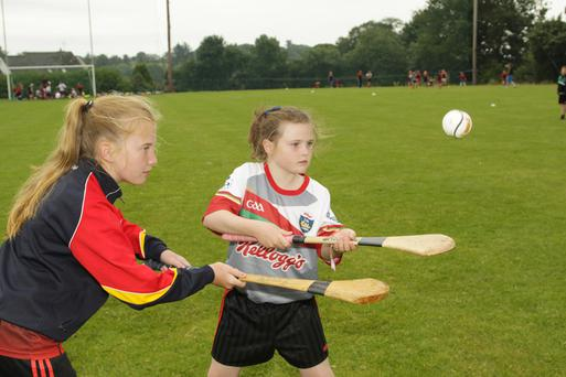 Oulart the Ballagh Cul camp; Niamh Mongan and Niamh Larkin Cooney.