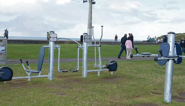 The new outdoor gym on Bray seafront.
