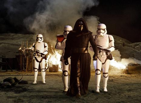 'Star Wars: The Force Awakens' had taken in €7.7m at the box office in Ireland - north and south - up to Wednesday night'. Photo: PA