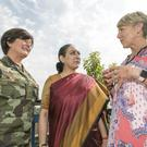 Lt Col Mary Carroll, Ms Vijay Thankur Singh, Indian Ambassador to Ireland and Tracy Piggott