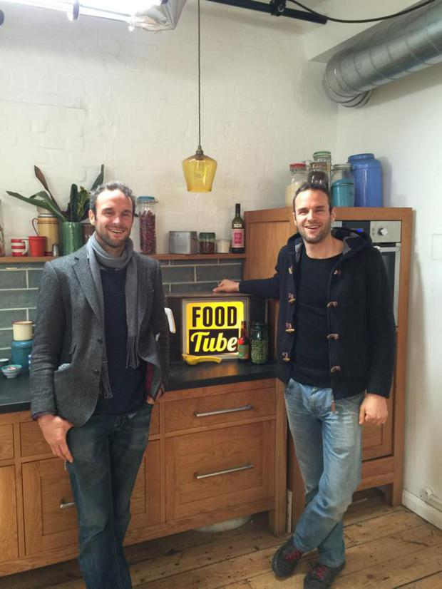 The Flynn twins at Food Tube HQ