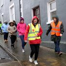 Local walkers taking part in the GOAL Mile in Tinahely