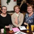 Jennifer Hawes, Christine Ryan, Lucy Sammon taking part in the Wicklow Lions Table Quiz at the Chester Beatty Inn, Ashford
