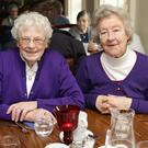Kitty Kennedy and Pat Fisher enjoying the Roundwood Active Retirement lunch in Byrne and Woods