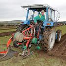 Robert Roe from Enniskerry in action at the recent ploughing match in Roundwood