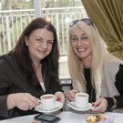 Elaine Godkin and Kristine D'Alton at the East Coast FM coffee morning in Lawless's Hotel, Aughrim. Photo: Joe Byrne