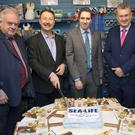 Pictured at the celebration of Sealife aqaurium were: Eugene Finnegan, Chair of Wicklow Tourism; Pat Ó Suillebhain, General Manager; Minister Simon Harris; Frank Curran, CE Wicklow County Council and Emer O'Connell, manager Wicklow's Historic Gaol