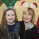 Matilda Shipman and Anna Muldowney at the Cobra Gymnastics Club Christmas Extravaganza