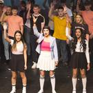 Action from the Loreto/Pres Bray production of 'Popstars' at the Mermaid Arts Centre: from left - Coach (Alex Killian), Steffi (Sined Paglinawan), Shannon (Kayleigh Horan), Tina (Disha Suresh)