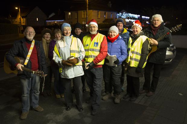 Members of Cecil Beare Ecumenical Carol Singers who were out singing around Greystones over the Christmas season