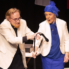 Don Bagley as the Vicar and Sylvia Evans as Mrs Pearce in 'Gosforth's Fete' at the Bray One Act Festival at the Mermaid Arts Centre