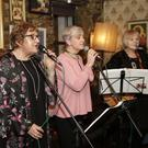 Providing entertainment at the fundraising night at the Harbour Bar for Ian McGahon's LE campaign were Mood Swings: from left - Ruthie Corbett, Hazel Evans and Marion Smith