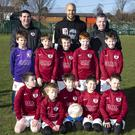 Recently Irish international goalkeeper Darren Randolph visited his old club Ardmore Rovers at their Sunday morning training. Here he is pictured with the under-9s and their managers Karl Groome and Richie Egan