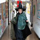 Deirdre Quinn gets into the 'Hogwarts' theme at St Laurence's NS Delgany in celebration of World Book Day.