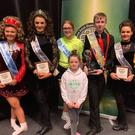 Members of our Irish Dance School Celtic Academy at the WIDA World and International Championships in Eindhoven: (Back) Ciara Renehan, Aisling Bull, Kim O'Toole, Eoin O'Toole Carrick, Sharon Hughes, Eimear O'Brien. (Front) Saoirse Hughes