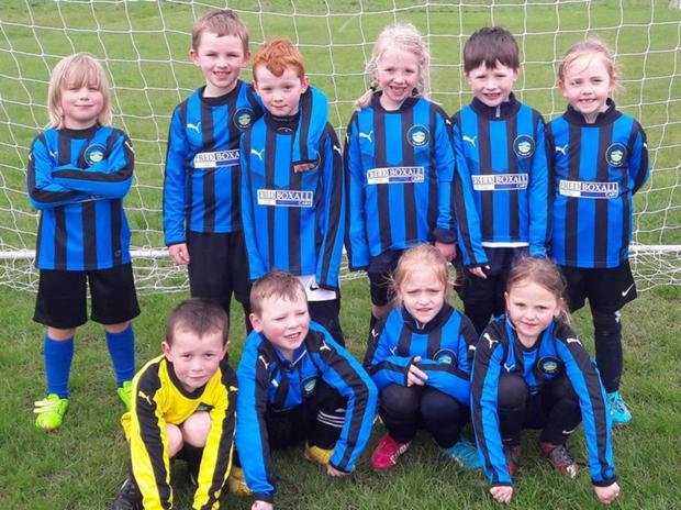 Glencormac United's New U8 Team in their new kit kindly sponsored by Eddie Boxall Cars