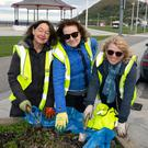 Carmen Cullen, Mary Hargaden and Mimi Megannety at the Bray Tidy Towns 'Weed and Wine' event on Bray Seafront