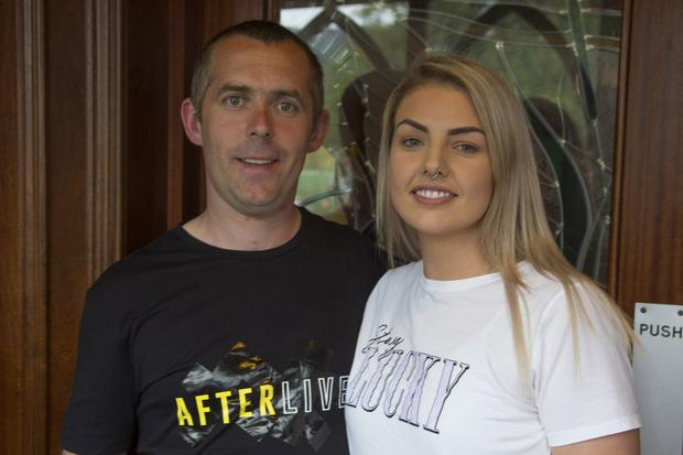 David Carter and Claire Begley at the Ballinacor GAA 'Thorny Rose' event in Lynham's of Laragh