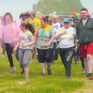 Some of the participants in the Newcastle Parish Colour Run