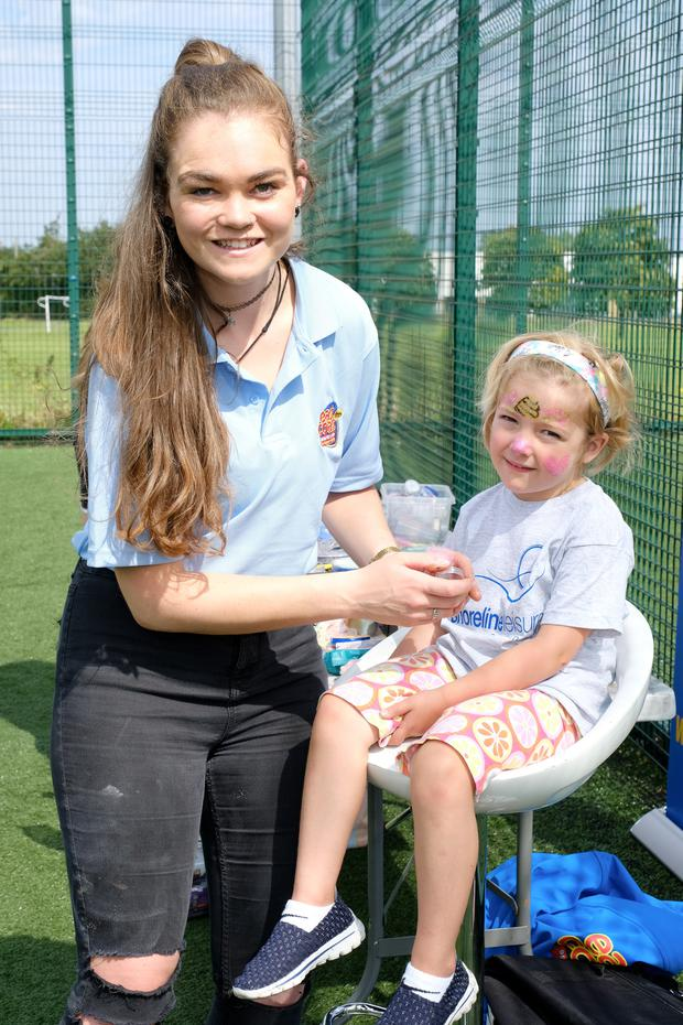 Maria Hogan with Caroline Cook at the family fun day in Shoreline Bray.