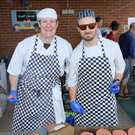 Peter Harty and Trevor Morton who were providing the food at the Rathmichael Parish Fete