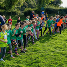 The start of the girls' under-10 race at the recent cross country event in Roundwood