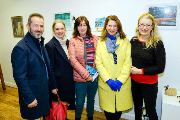 Joea nd Deirdre Hannon, Patricia Allison, Geraldine Flanagan and Eleanor Phillips at the Meet and Greet event in Signal Arts Centre