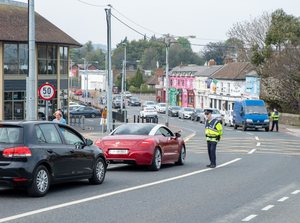 A checkpoint at Castle Street in Bray
