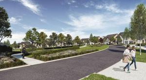An artist's impression of the planned development at Kilgarron Hill