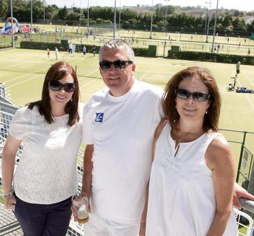 Greystones Tennis Open Day: Nicola Hennessy, Mens Captain Donal O'Sullivan and Lotte O'Sullivan