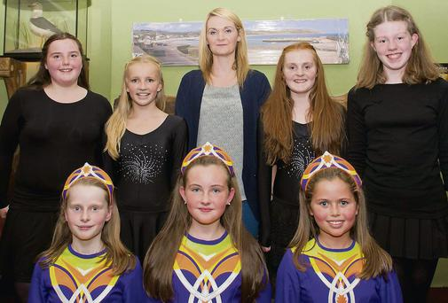 Elaine Carroll School of Dancing permorming on Culture Night at The Beach House, Greystones (back, from left): Mea McLaughlin, Katie O'Byrne, teacher Elaine Carroll, Megan Mahon and Aimee Coughlan. Front: Kira Finn, Olivia Smyth and Ellen McDonald.