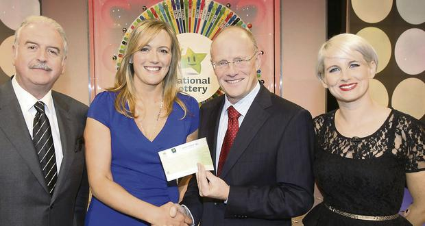Emma Wolohan from Raheen, Roundwood, Co Wicklow won €44,600 on the National Lottery Winning Streak Game Show on RTE.