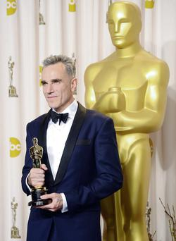 Daniel Day-Lewis at last year's Academy Awards, where he won the Best Actor award.