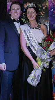 The new Rose of Wicklow Gillian, with her escort Brian O'Donoghue.