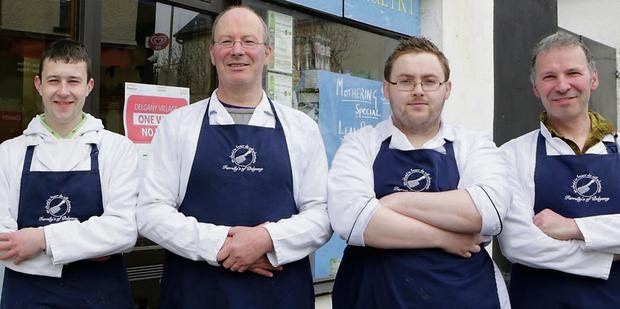Robin Farrelly, Anthony Farrelly, Keith Grant and Padraig Farrelly of Farrelly's Butchers.