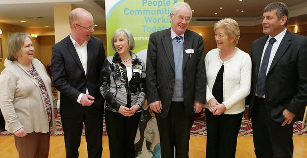 Eileen Byrnes of Bray Partnership, TD Stephen Donnelly, Linda Uhleman, Dermot Ward, TD Anne Ferris and TD Andrew Doyle.