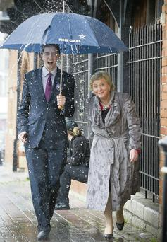 Minister for Justice, Frances Fitzgerald on the campaign trail with Ireland South MEP Candidate, Simon Harris in Bray.