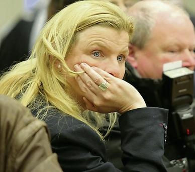Liz Dillon, a FG candidate in Greystones, waiting for the count to start.