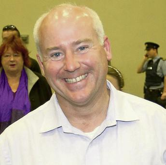 Niall Byrne, of the Green Party, at the Wicklow count in the Shoreline Centre, Greystones