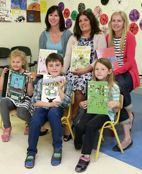 At the launch were parents Antonia Cameron, Eilish O'Toole and Sarah Johnston with their readers Phoebe Cameron, Niall O'Toole and Olivia Johnston.