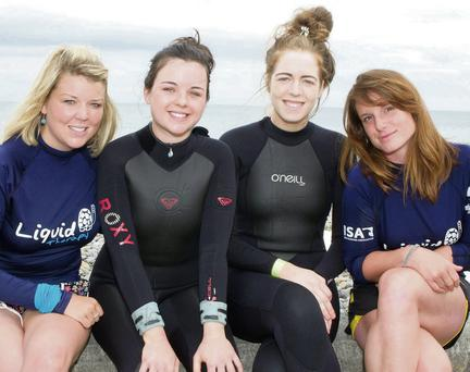 Jessie O'Connor, Maria Nolan, Hannah Roche and Fiona Dolan at the Paddle Along The Prom, part of the Summerfest
