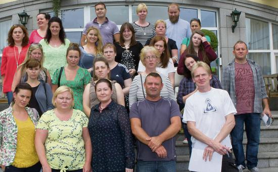 Some of those who attended the meeting for St Catherine's parents at the Glenview Hotel at the weekend.