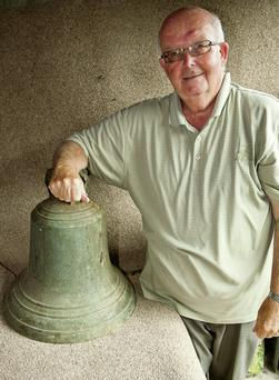John Finlay with the Capt Halpin estate bell