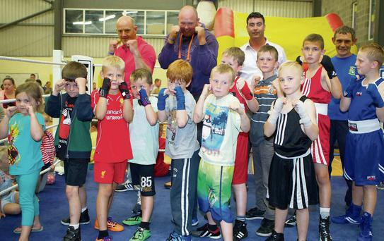 Members of the Overcomers Boxing Club at the fun day
