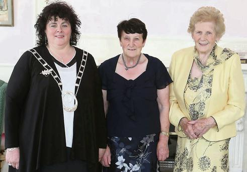 National Bread Baking finalist Statia Ivers (centre) with Liz Wall, Chair of Wicklow Federation ICA and Anna May McHugh of the Irish Ploughing Assoc.