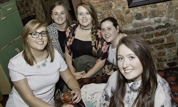 Enjoying a night out at the Hardy Har Comedy Club in the Harbour Bar Bray were Johanne Mohan, Niamh Kavanagh, Ceire Kennedy, Megan Clucas and Katie O'Brien.