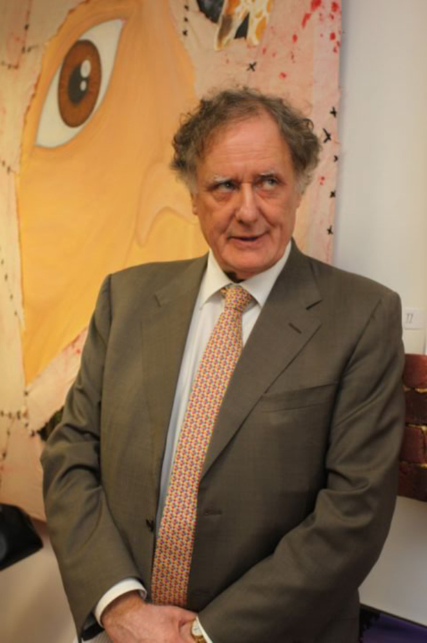 Vincent Browne opened the art exhibition at the Bride Street Gallery on Thursday night.